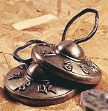 Ritualgegenstände-Zimbeln mit Halbrelief und Mantra