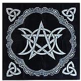 szlsl88 19-Zoll-Tarot-Tischdecke, Tarot-Stoff, heidnischer Altar-Dreifach-Astrologie-Tarot-Stoff...