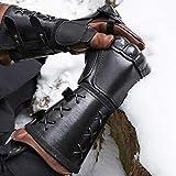2er Pack Soft Leder Handschuh Armband Mittelalterliche Arm Manschette Rüstung Schnallen Punk...