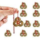 Mein HERZ 10 Stück Chinesischer Glücksmünzen, Feng Shui Münzen, Glück Münze L-Ching Münzen...