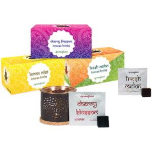 Aromafume Baum des Lebens Duftbrenner + drei Schachteln Weihrauchblöcke