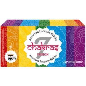 Aromafume Set 7 Chakra mit Duftbrenner