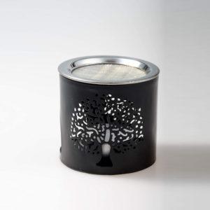 MaMeMi Räucherstövchen Eisen schwarz Höhe 6 cm