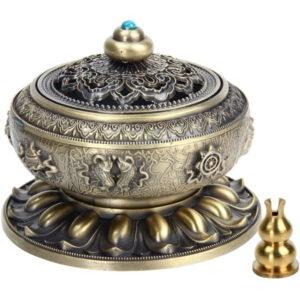 Weihrauchbehälter Mit Räucherstäbchenhalter (Bronze)
