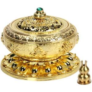 Weihrauchbehälter Mit Räucherstäbchenhalter (Golden)